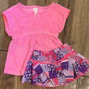 UV Skinz swim skirt and OshKosh coverup.